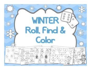 Winter Roll, Find and Color