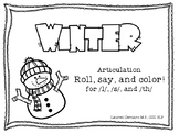 Winter Roll, Say, and Color for /l/, /s/, and /th/