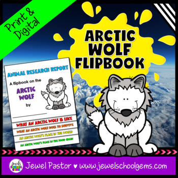 Winter Science Activities (Arctic Animals Research Flipbook)