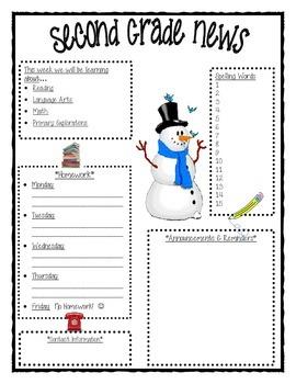 Winter Second Grade Newsletter