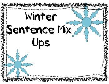 Winter Sentence Mix up
