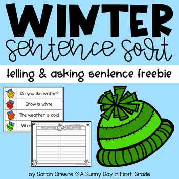 Winter Sentence Sort {telling & asking} Freebie!
