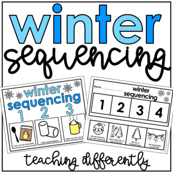 Winter Sequencing Activities (Sequencing Mats, Cut & Paste
