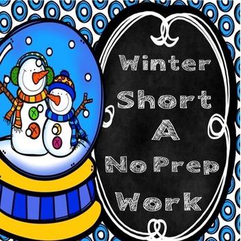 Winter Short A Word Work (No Prep)