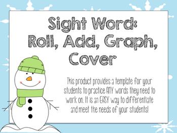 Winter Sight Word BUMP Practice