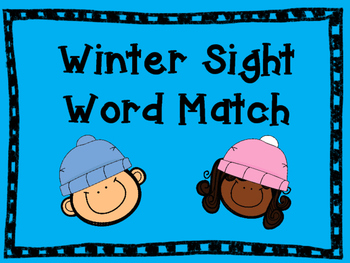 Winter Sight Word Freebie!!