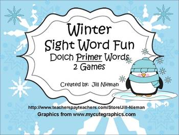 Sight Word Games-Winter (Dolch Primer Words)
