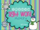Winter Sight Word Memory