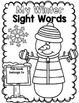Winter Sight Words {Pre-Primer} Print and Go