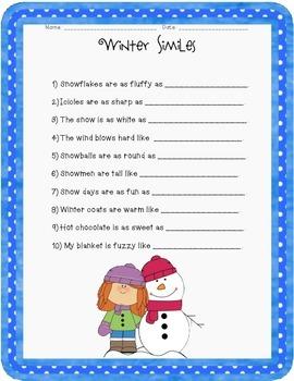 Winter Similes