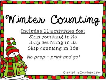 Winter Skip Counting Pack