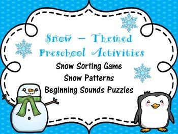 Winter Snow Activities for Preschool
