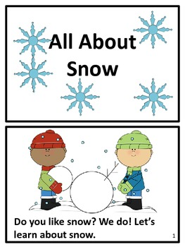 """Winter Snow Reader - All About Snow"""""""""""
