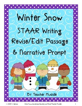 Winter Snow STAAR Writing R/E Passage and Narrative Prompt