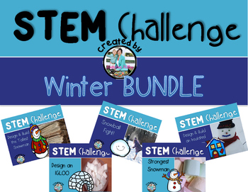 Winter Snow STEM Engineering Challenge Bundle