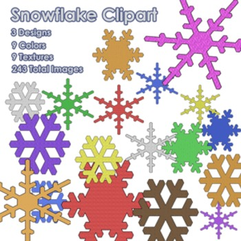 Winter Snowflake Clipart Pack