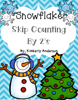 Winter Snowflake: Skip Counting by 2's - Card Sort Center