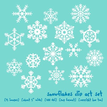 Winter Snowflakes Clip Art, Christmas Holiday Clip Art, Wi