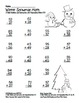 Winter Snowman 2 Digit Subtraction & Addition Regrouping C