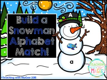 Snowman Alphabet Match