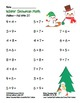 """Winter Snowman Math"" Add Within 20 - Common Core - Fun! ("