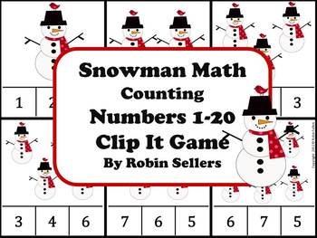 Winter Snowman Math {Counting Numbers 1-20... by Robin Sellers ...
