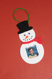 Winter Snowman Picture Frame Ornament (set of 12)