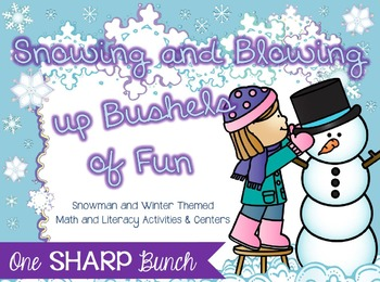 Winter & Snowman - Snowing and Blowing Up Bushels of Fun -