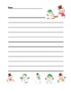 """Winter Snowman"" Writing Sheets – Common Core  (color & bl"