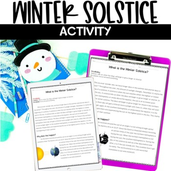 Winter Solstice Nonfiction Article Snowflake Activity