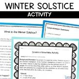 Winter Solstice Nonfiction Article Snowflake Activity
