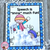 Winter Speech Therapy Craft for Articulation Language Flue