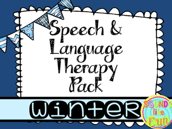 Speech and Language Therapy Pack: Winter