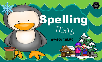 Winter Spelling Test & Dictation {8 Themes - 5 , 10 & 20 Words}