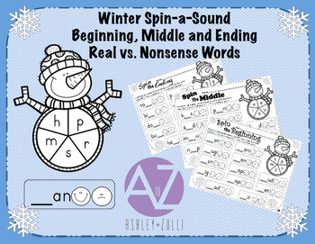 Winter Spin-a-Sound Beginning, Middle and Ending Sounds Re