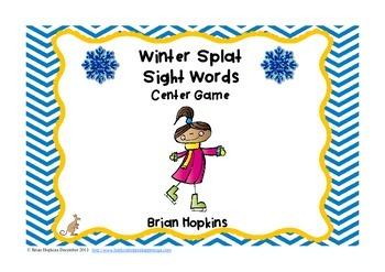 Winter Splat Sight Words