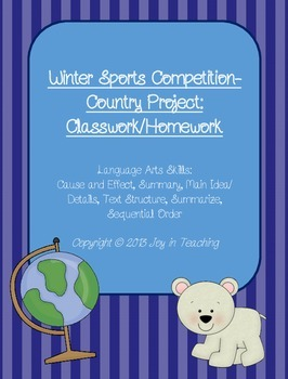 Winter Sports Competition- Country Research Project-classw