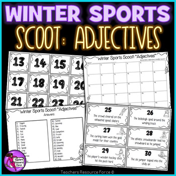 Adjectives Scoot for Winter