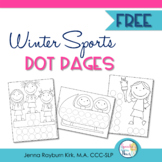 Winter Sports: Dot Pages FREEBIE