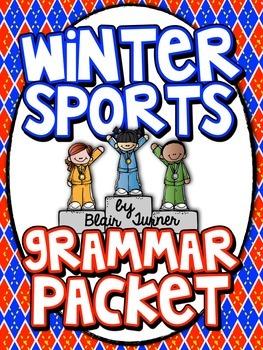 Winter Sports Grammar Packet