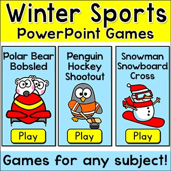 Winter Activities Games for January: Bobsled Race, Hockey,