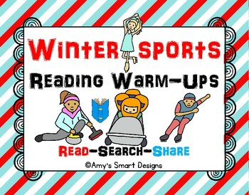 Olympics: Winter Sports Reading Warm-ups