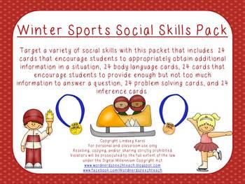 Winter Sports Social Skills Pack