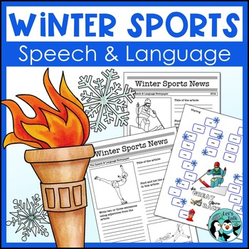 Winter Sports Speech and Language Packet