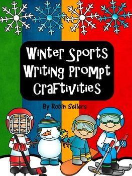 Winter Sports Writing Prompt Craftivities: Skating, Hockey