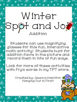 Winter Spot and Jot - Addition