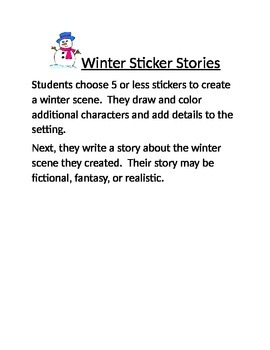 Winter Sticker Story