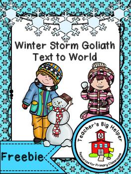 Winter Storm Text to World Freebie