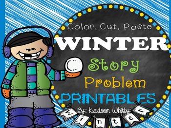 Winter Story Problem Printables (K &1)