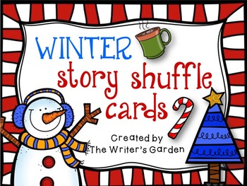 Winter Holidays Creative Writing: Story Shuffle Cards and